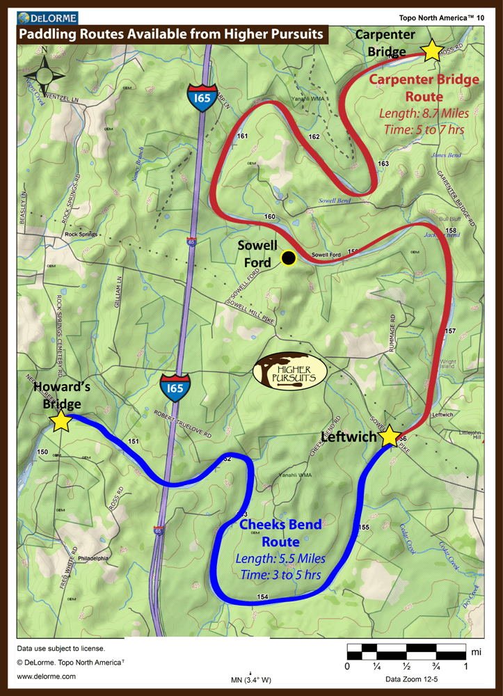 Routes on the Duck River