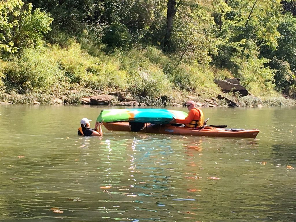 Learn to empty your kayak