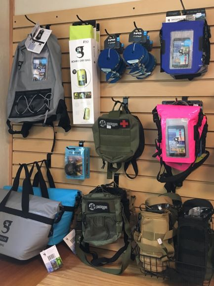 We sell dry bags and other paddling accessories.